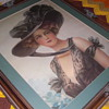 art nouveau unknown large framed picture