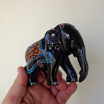 Indian wildly painted elephant