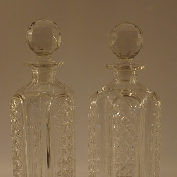 Decanters and Cats - Art Glass
