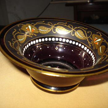 Jugendstil enameled glass bowl - Art Glass