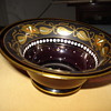 Jugendstil enameled glass bowl