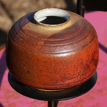 Art Pottery Vase by MJ? - Pottery