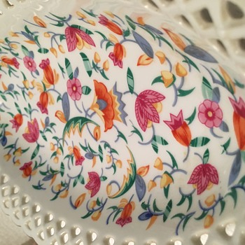 Oval lace porcelain flower candy dish?  - China and Dinnerware