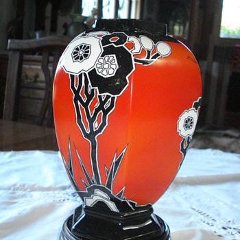 Art deco Carlton Ware vase - Art Deco