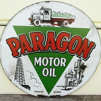 Paragon porcelain sign. - Signs