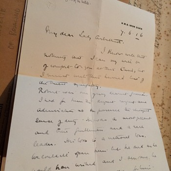 War letters from  rear Admiral sir robert arbuthnot  - Military and Wartime