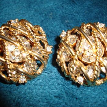 Clip On Earrings-Carnegie - Costume Jewelry