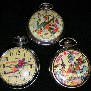 Three Versions Of Buck Rogers Pocket Watch - Pocket Watches