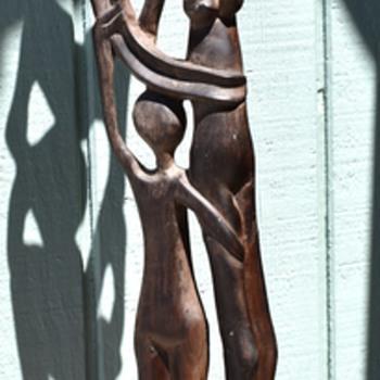 Shona Wood Statue - Family Group
