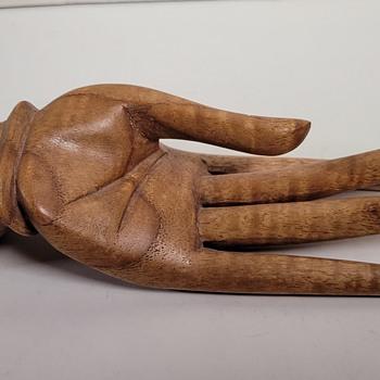 Wood Carved Hand - Folk Art