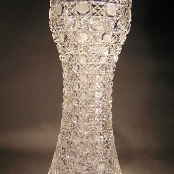 American Brilliant Cut Glass Vase