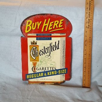 Chesterfield Cigarettes dbl sided flange sign - Signs