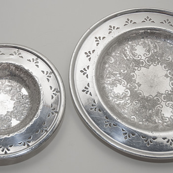 Lead Trays with applied Silver, made in Canada by Benedict & Proctor Mfg. - Tobacciana