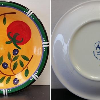 LivingArt 'Italian Garden' Plates - Kitchen