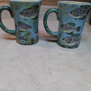 MIKE STOVALL FISH MUGS - Kitchen