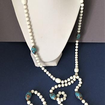 Vintage Trifari Necklace with Italian ( Murano) Glass Beads - Costume Jewelry