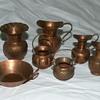 Vintage Minature Copper Pots & Pan Set