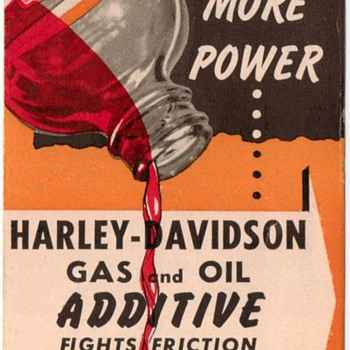 Harley-Davidson Gas & Oil Additive Ad Pamphlet - 1960  - Advertising