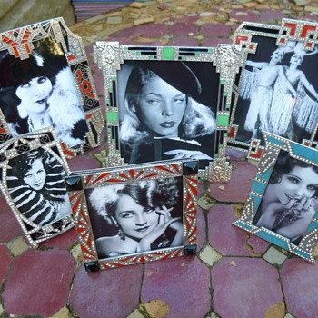 1030s Enamel and Diamonte Picture Frames - Art Deco