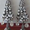 Fabulous Pair of Georgian Silver Spanish Paste earrings circa 1800's.