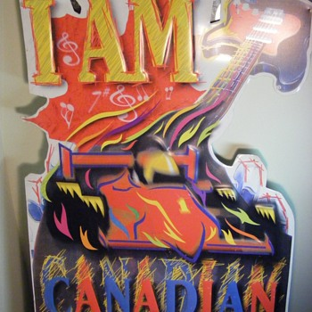 Vintage I Am Canadain Tin Beer Sign