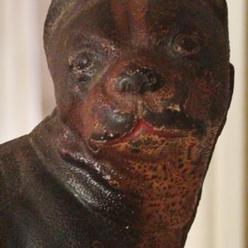 Cast Iron Boston Bull Terrier Door Stop by Hubley Co C1910  - Animals