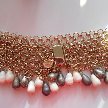 Monette of Paris goldtone Chain Belt