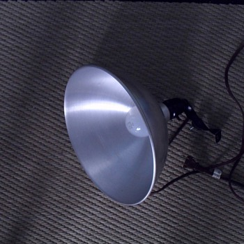 metal light fixture.
