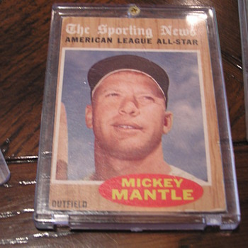 1962 Topps Sporting News All-Star Mickey Mantle - Baseball