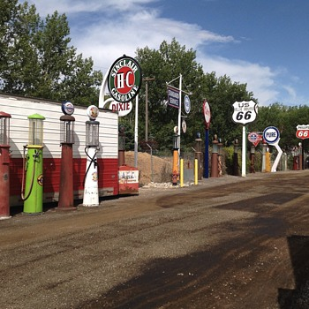 Cool old pumps at aaaLakeside Storage in Provo Ut - Petroliana