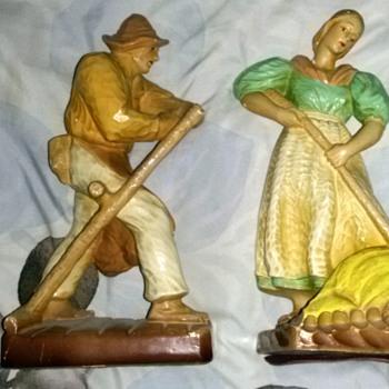 Two Vintage Russian Ceramic Figures - Figurines