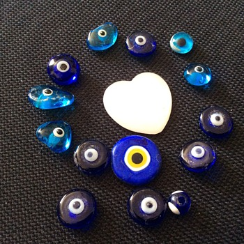 Unusual glass beads - Costume Jewelry