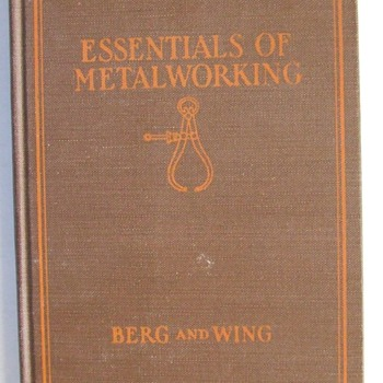1934 Metalworking/Machine Shop Book - Books