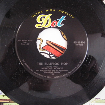 Nervous Norvus The Fang & Bullfrog Hop 45 record - Records