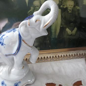 White and Blue elephant  - Animals