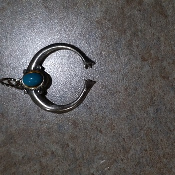 my favorite silver pendant with turquoise  - Native American