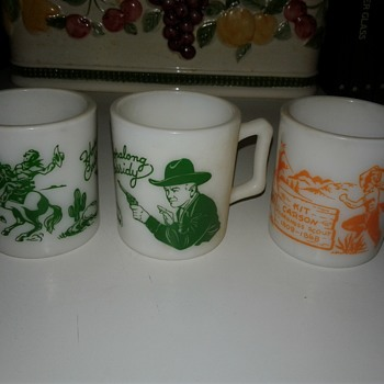 Three Cups From 1950s Hopalong Cassidy - Kitchen