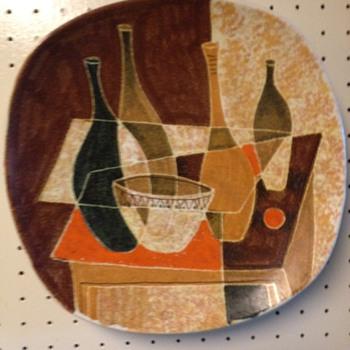 Mid Century Modern Decorative Wall Platter - Mid-Century Modern