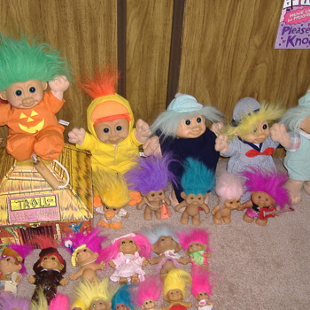 My Daughter and her Troll collection (some of it) - Dolls