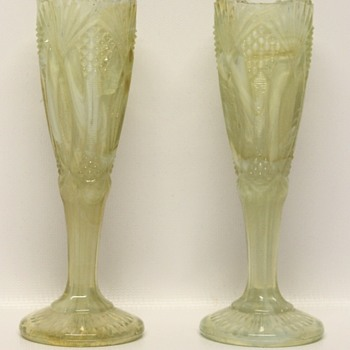 Yellow Vaseline Vases or Not - Glassware