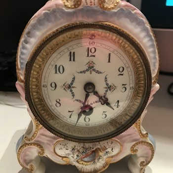 Porcelain Mantle Clock - Clocks