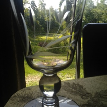 clear etched water goblets - Glassware