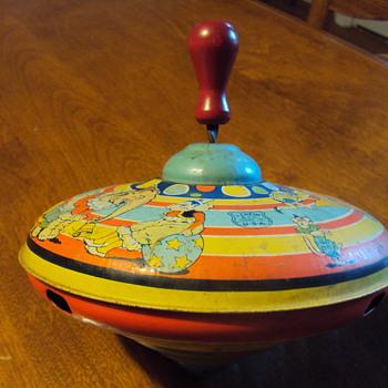 Tin Circus Spin Top - Toys