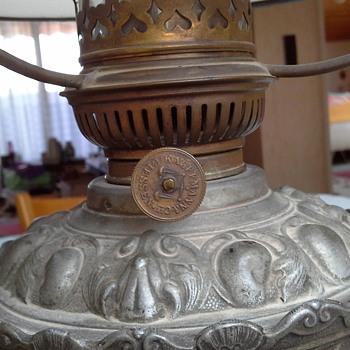 German oil table lamp