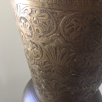 Huge 72 1/2 inch Tall Etched Brass Ewer