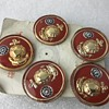Chinese Red and gold Pins