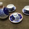 Koransha porcelain sake set