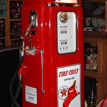 National Gas Pump...Theme Is Texaco Fire Chief Gasoline...37 cents a gallon - Petroliana