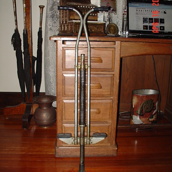 Vintage Pogo Stick...Made By Hungerford...Morristown,NJ...My Bargin Of The Day $3.77 - Sporting Goods