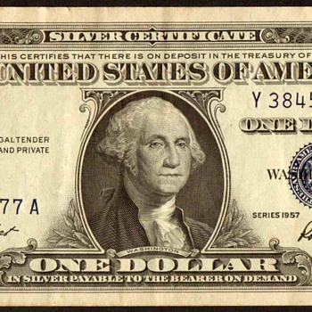 1957 - U.S. $1 Silver Certificate - US Paper Money